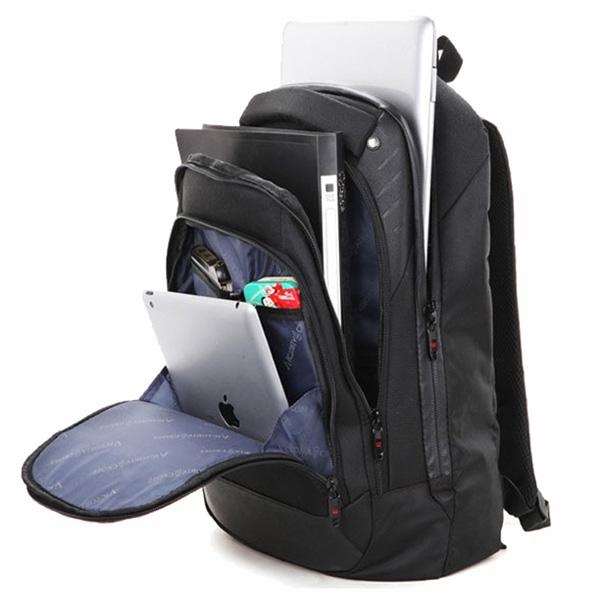 2.8watt solar swissgear backpack with 1680D + PU materials