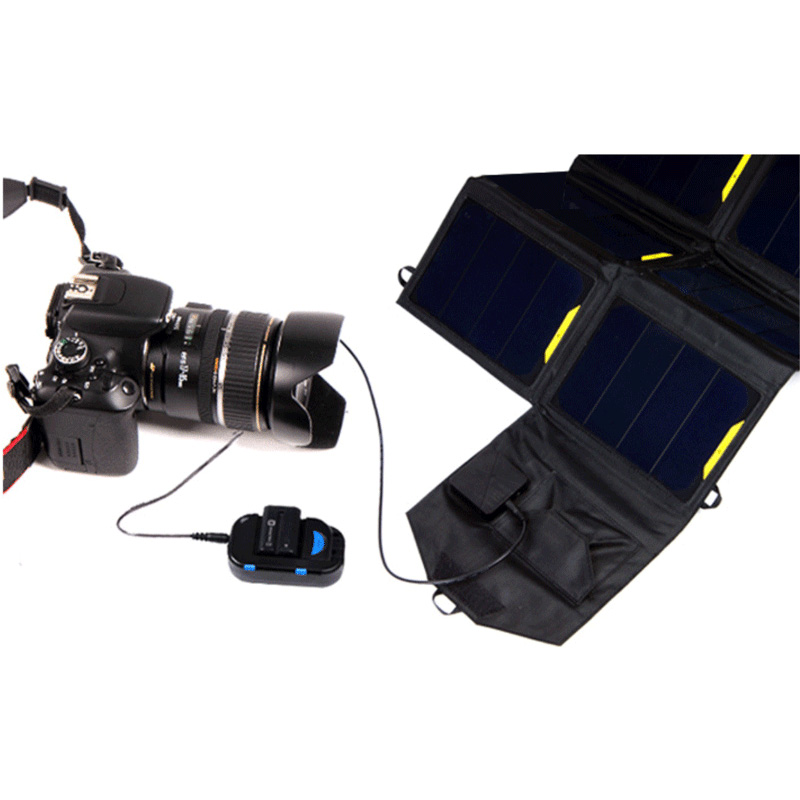 28watt Dual solar laptop charger