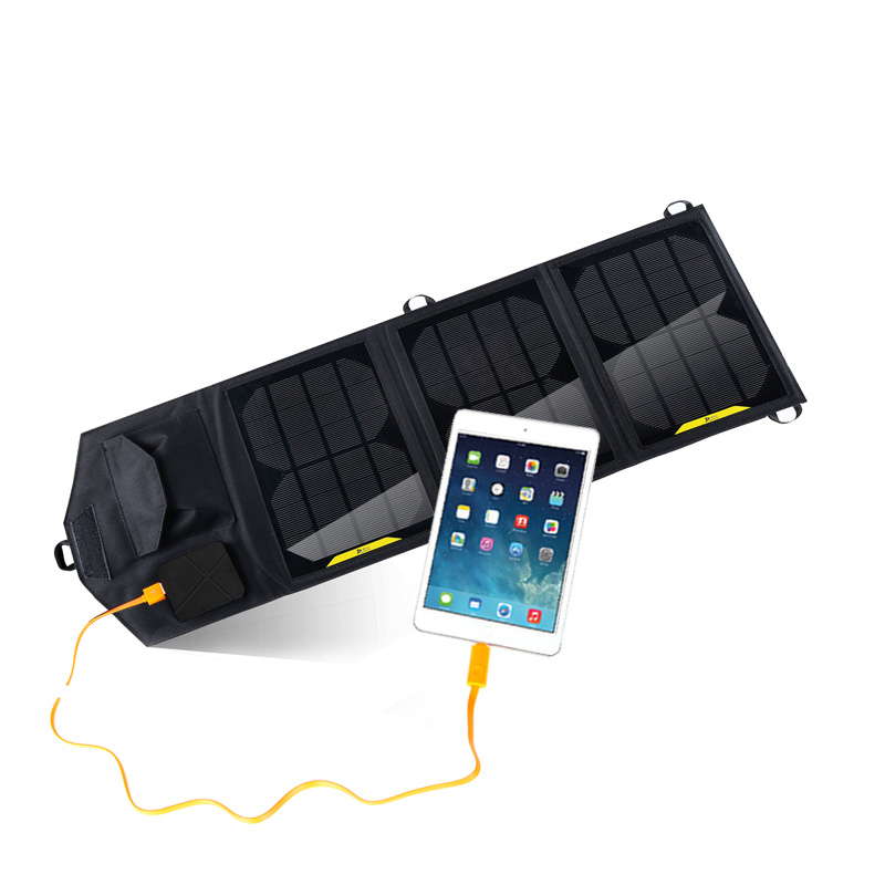 10.5Watt foldable solar bag charger