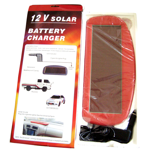 12V solar car battery charger