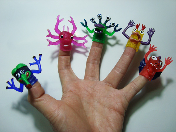 Eco Miracle Soft PVC Rubber Finger Monster Toy set
