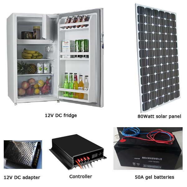 EM-BC120 solar fridge , 120L solar fridge ,90watt solar panel, 60Ah battery