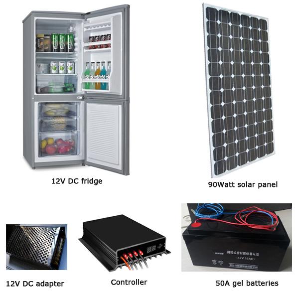 EM-BCD150 150L fridge/freezer + 90W solar panel + 70AH battery set