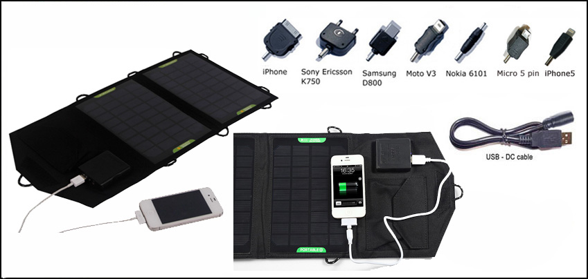 7watt foldable solar bag charger include voltage controller inside