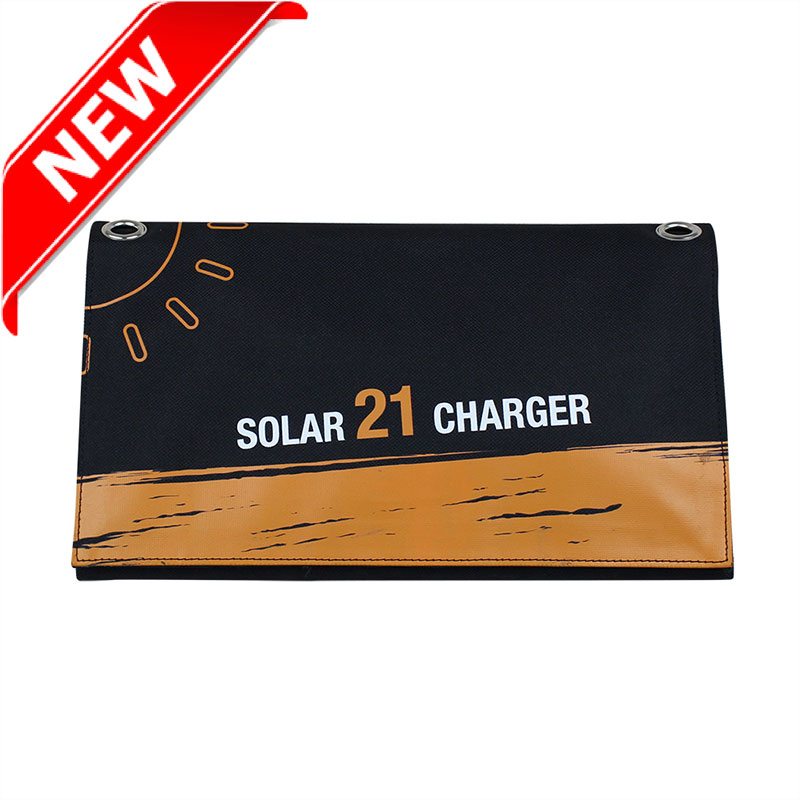 Sunpower® 21watt portbale solar foldable charger include Dual output USB voltage controller EM-021S