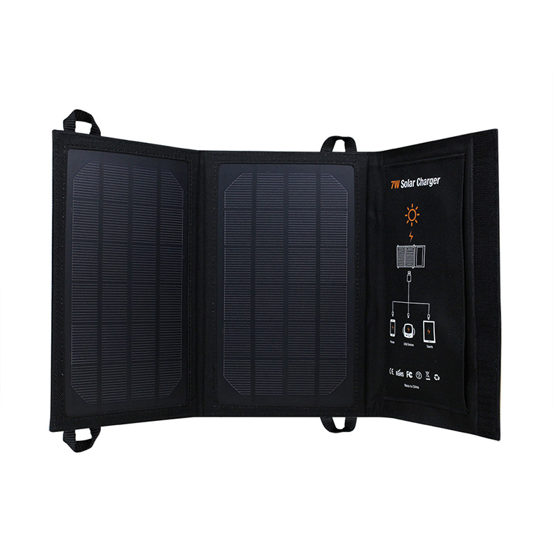 7watt monocrystalline solar bag charger with USB controller EM-707B