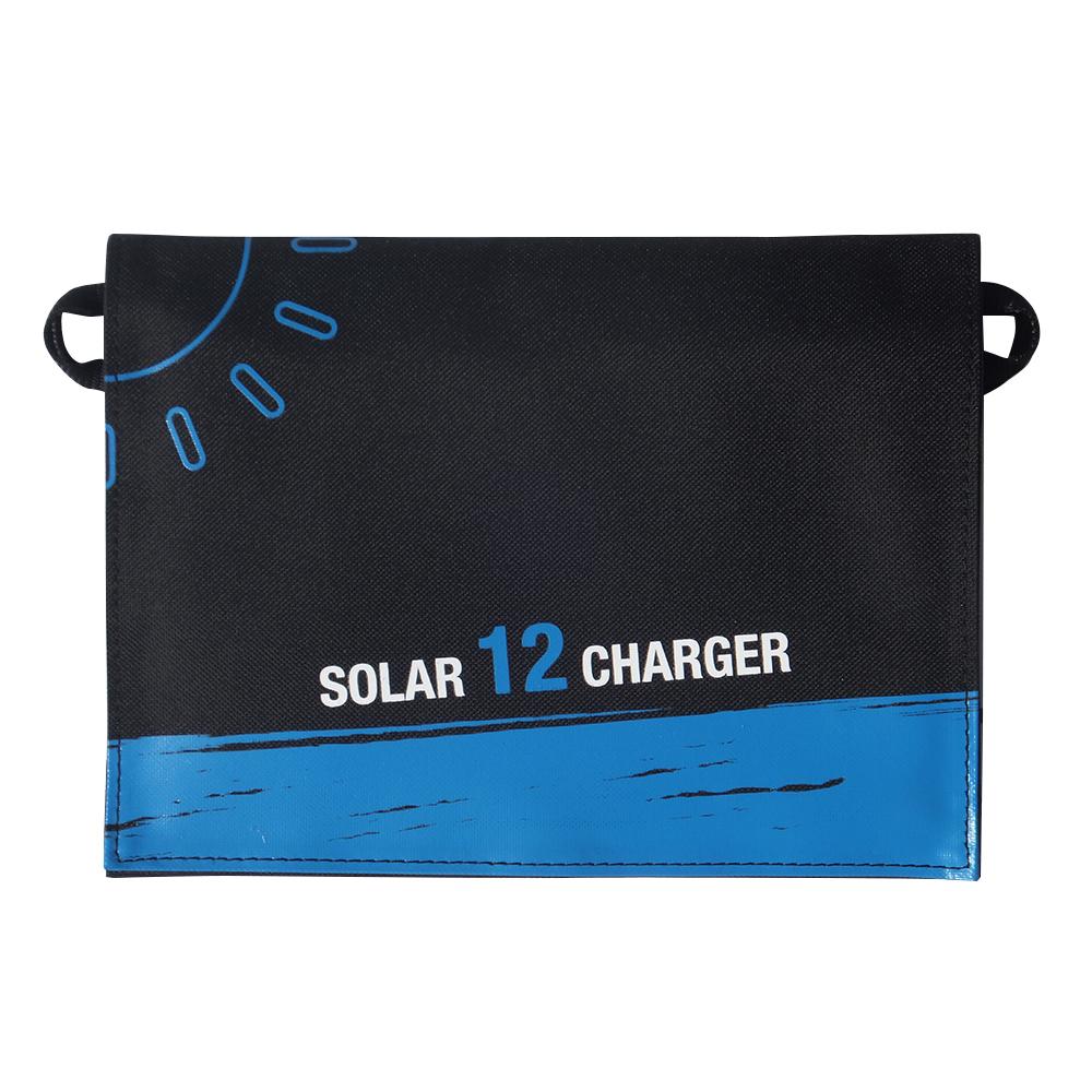 12watt solar charger bag with digital display dual usb port EM-012