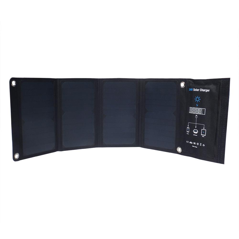 3 USB output 24watt sunpower solar charger EM-024D