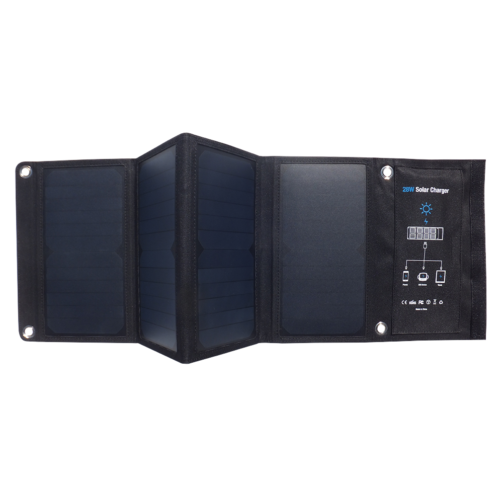 3USB poart 28watt solar foldable charger bag EM-028D