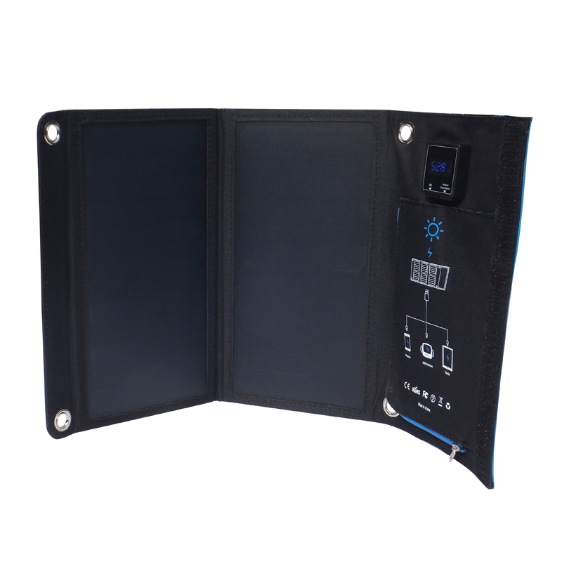 15watt sunpower solar charger with digital dispaly EM-015D