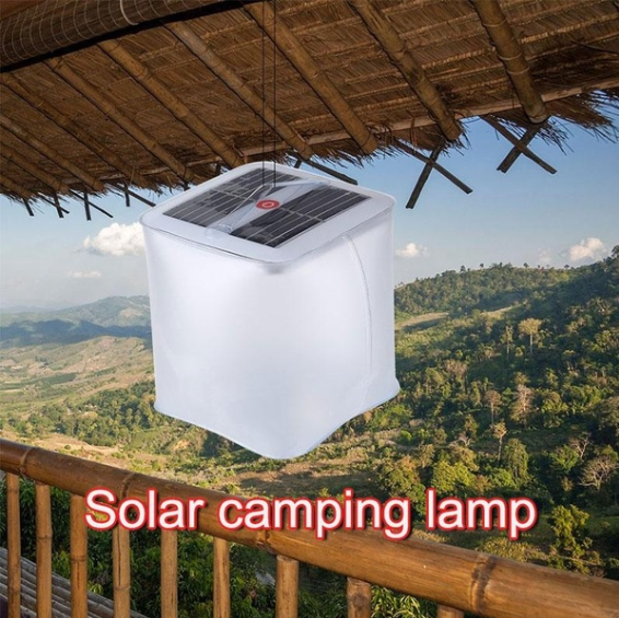 Solar waterproof folding PVC inflatable lamp EM-SL20
