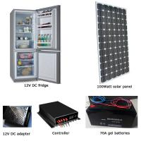 EM-BCD200 200L fridge/freezer + 100W solar panel + 70AH battery set