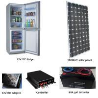 EM-BCD250 250L fridge/freezer + 100W solar panel + 80AH battery set
