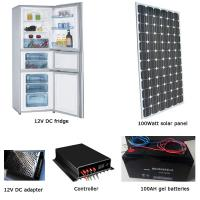 EM-BCD300 300L fridge/freezer + 100W solar panel + 100AH battery set